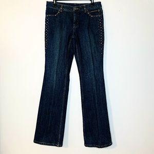 Harley-Davidson Studded Rhinestone Flare Jeans 8L